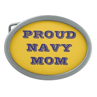 Belt Buckle Proud Navy Mom