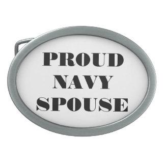 Belt Buckle Proud Navy Spouse