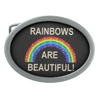 Belt Buckle Rainbows Are Beautiful Glitter