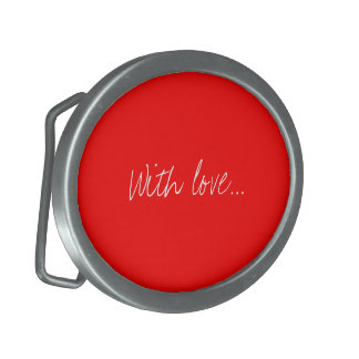 Belt Buckle Red