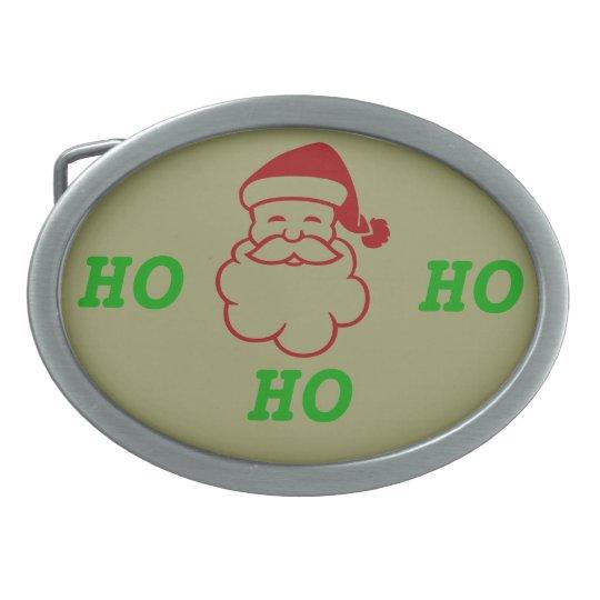 Belt Buckle - Santa HO, HO, HO