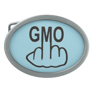 Belt Buckle Say No To GMO