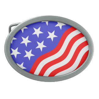 Belt Buckle Stars and Stripes 2