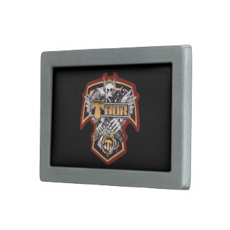 Belt Buckle, The Famous Band Thor Logo in Center Rectangular Belt Buckle