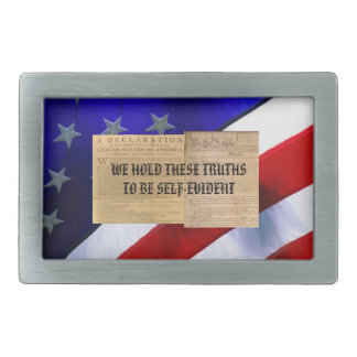 Belt Buckle w/ We Hold These Truths To Be Self-