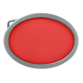 Belt Buckle with Bright Red Background