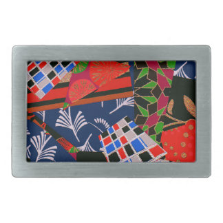 Belt Buckle with Colorful Collage
