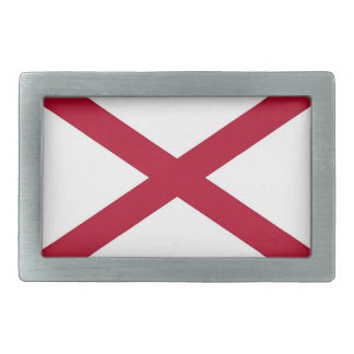 Belt Buckle with Flag of Alabama
