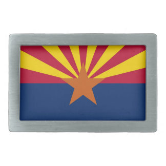 Belt Buckle with Flag of Arizona State