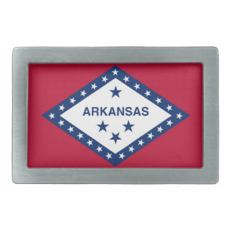 Belt Buckle with Flag of Arkansas State