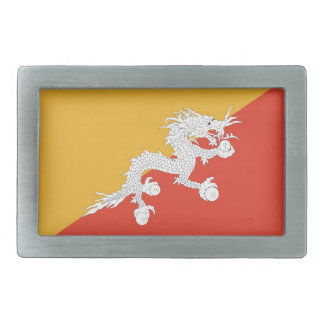 Belt Buckle with Flag of Bhutan