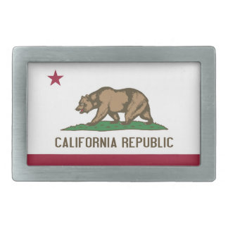 Belt Buckle with Flag of California State