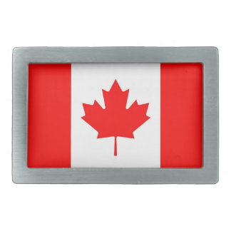Belt Buckle with Flag of Canada