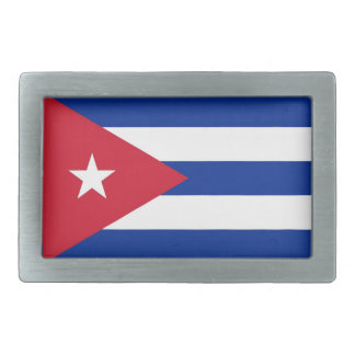 Belt Buckle with Flag of Cuba