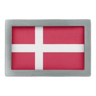 Belt Buckle with Flag of Denmark