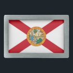 """Belt Buckle with Flag of Florida State<br><div class=""""desc"""">Elegant Belt Buckle with Flag of Florida. United States of America. This product its customizable.</div>"""