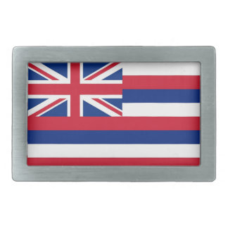 Belt Buckle with Flag of Hawaii State