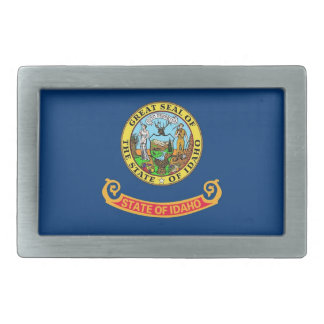 Belt Buckle with Flag of Idaho State