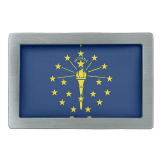 Belt Buckle with Flag of Indiana State