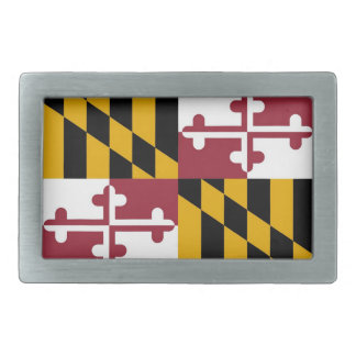 Belt Buckle with Flag of Maryland State