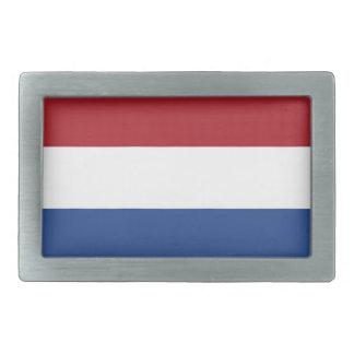 Belt Buckle with Flag of Netherlands