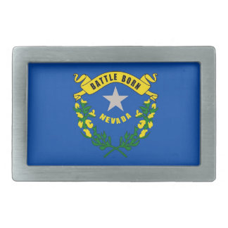 Belt Buckle with Flag of Nevada State
