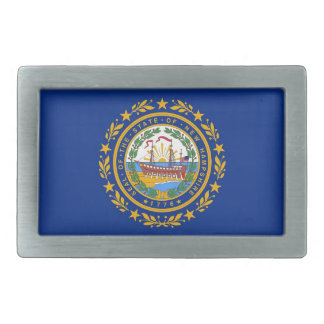 Belt Buckle with Flag of New Hampshire State