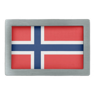 Belt Buckle with Flag of Norway