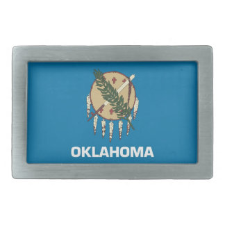 Belt Buckle with Flag of Oklahoma State
