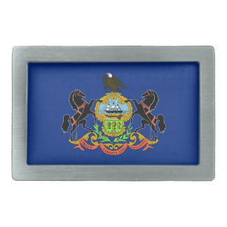 Belt Buckle with Flag of Pennsylvania State