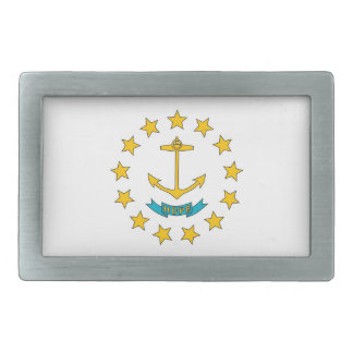 Belt Buckle with Flag of Rhode Island State