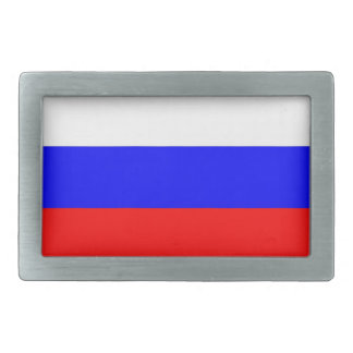 Belt Buckle with Flag of Russia