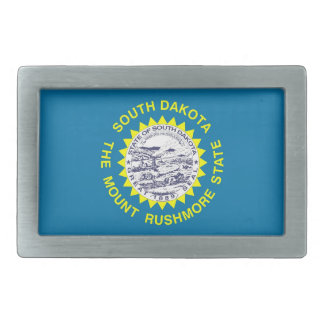 Belt Buckle with Flag of South Dakota State