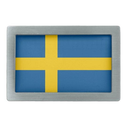 Belt Buckle with Flag of Sweden