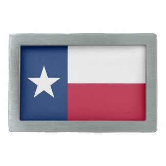 Belt Buckle with Flag of Texas State