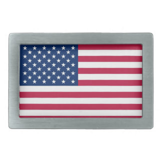 Belt Buckle with Flag of United State of America