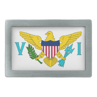 Belt Buckle with Flag of Virgin Islands