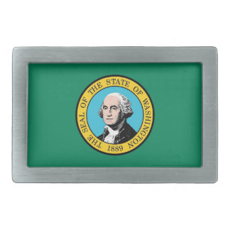 Belt Buckle with Flag of Washington State
