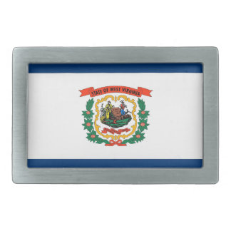 Belt Buckle with Flag of West Virginia State