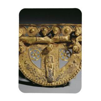 Belt-buckle with granulated decoration, Orientaliz Rectangular Photo Magnet