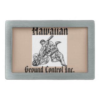 Belt buckle with Hawaiian Ground Control Inc.