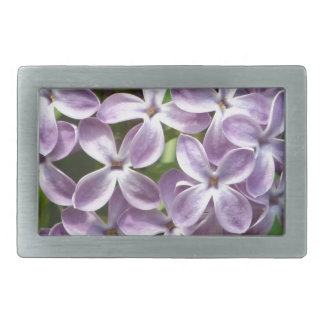 belt buckle with photo of beautiful purple lilacs