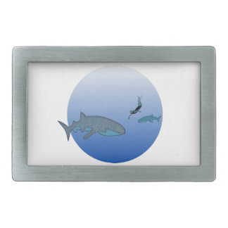 Belt Buckle with Whaleshark Decoration