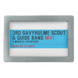 3rd Davyhulme Scout & Guide Band  Belt Buckles