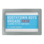 boothtown boys  brigade  Belt Buckles