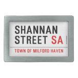 Shannan Street  Belt Buckles