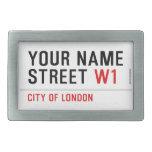 Your Name Street  Belt Buckles