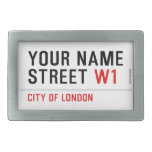 Your Name Street  Belt Buckles