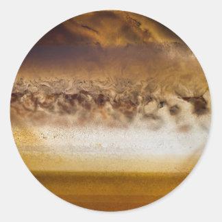 Belt of Jupiter Geode Classic Round Sticker