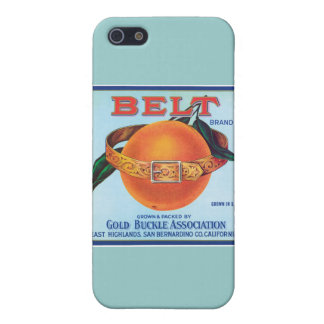 Belt Orange Vintage Label Cover For iPhone 5